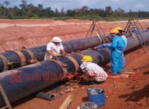 印尼超高分子量聚乙烯管施工现场